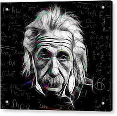Albert Einstein Collection Acrylic Print by Marvin Blaine