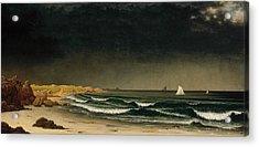 Approaching Storm Beach Near Newport Acrylic Print by Martin Johnson Heade