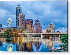 Austin Skyline At Dark Acrylic Print by Tod and Cynthia Grubbs