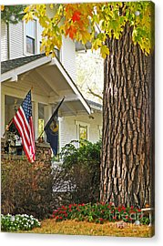 Autumn In Small Town America Acrylic Print by Christine Belt