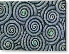 Bleus En Spirale Acrylic Print by Jacques Vesery