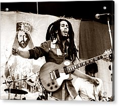 Bob Marley 1979 Acrylic Print by Chris Walter
