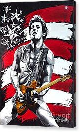 Bruce Springsteen Acrylic Print by Francesca Agostini