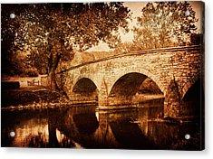 Burnside Bridge Acrylic Print by Mick Burkey