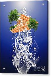 Carrot Splash Acrylic Print by Marvin Blaine