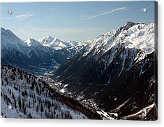 Chamonix Resort In The French Alps Acrylic Print by Pierre Leclerc Photography