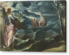 Christ At The Sea Of Galilee Acrylic Print by Tintoretto