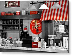 Coca Cola Acrylic Print by Todd Hostetter