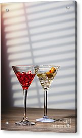 Cocktails At The Bar Acrylic Print by Amanda And Christopher Elwell