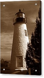 Concord Point Lighthouse Md Acrylic Print by Skip Willits