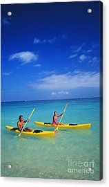 Couple Paddling Acrylic Print by Kyle Rothenborg - Printscapes