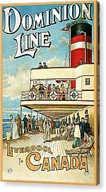 Dominion Line Acrylic Print by William Cossens