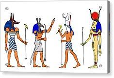 Egyptian Gods And Goddess Acrylic Print by Michal Boubin