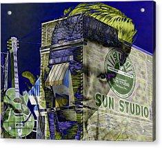 Elvis Presley Sun Studio Collection Acrylic Print by Marvin Blaine