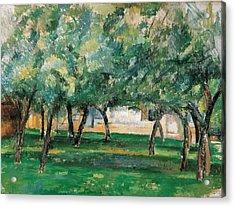 Farm In Normandy  Acrylic Print by Paul Cezanne