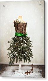 Festive Christmas Mannequin Acrylic Print by Amanda Elwell