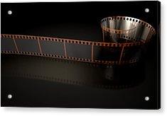 Film Strip Curled Acrylic Print by Allan Swart