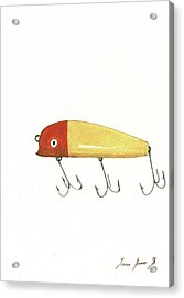 Fishing Lure  Acrylic Print by Juan Bosco