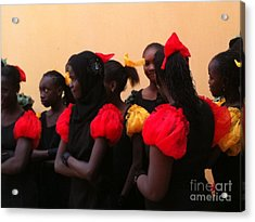 Goree Girls Acrylic Print by Fania Simon