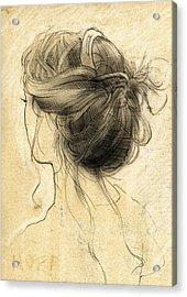 Hair Study Acrylic Print by H James Hoff