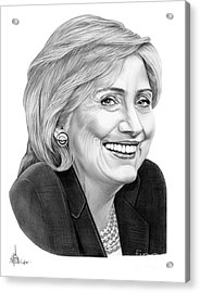 Hillary Clinton Acrylic Print by Murphy Elliott