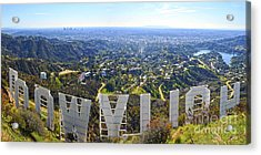 Iconic Hollywood  Acrylic Print by Art K