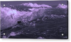 2 Ideal Surf Waves Photography And Digital Transformation Acrylic Print by Navin Joshi