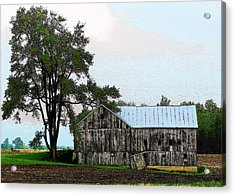 Indiana Barn Acrylic Print by Joyce Kimble Smith