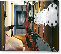 Industrial Powder Coating Acrylic Print by Mark Sykes