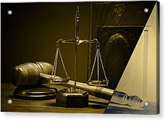 Law Office And Judge Collection Acrylic Print by Marvin Blaine