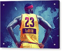 Lebron James Acrylic Print by Semih Yurdabak