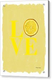 Lemon Acrylic Print by Mark Rogan