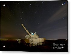 M1 Abrams Tank At Camp Warhorse Acrylic Print by Terry Moore