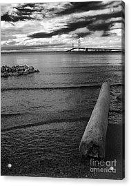 Mackinac Bridge - Infrared 01 Acrylic Print by Larry Carr