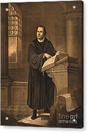 Martin Luther, German Theologian Acrylic Print by Photo Researchers