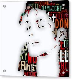 Michael Jackson I'm Bad Acrylic Print by Marvin Blaine