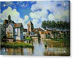 Moret-sur-loing Acrylic Print by Celestial Images