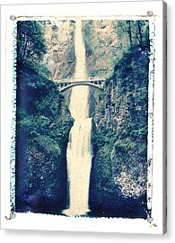 Multnoma Falls Acrylic Print by Joe  Palermo