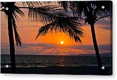 Nuevo Vallarta Sunset Acrylic Print by About Light  Images