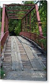Old Alton Bridge  Acrylic Print by Ruth  Housley