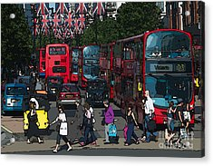 Oxford Street Acrylic Print by Andrew Michael