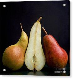 Pears Acrylic Print by Bernard Jaubert