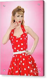 Pin Up Style Acrylic Print by Amanda And Christopher Elwell