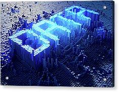 Pixel Data Concept Acrylic Print by Allan Swart