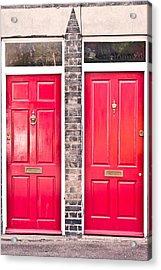 Red Doors Acrylic Print by Tom Gowanlock
