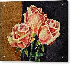 Roses   Acrylic Print by Irina Sztukowski