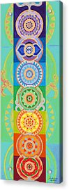 Seven Chakras Magic Acrylic Print by Sandra Petra Art