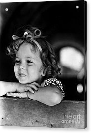 Shirley Temple (1928- ) Acrylic Print by Granger