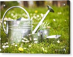 Spring Garden Acrylic Print by Mythja Photography