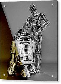 Star Wars C3po And R2d2 Collection Acrylic Print by Marvin Blaine